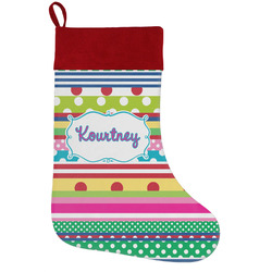Ribbons Holiday / Christmas Stocking (Personalized)