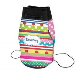 Ribbons Neoprene Drawstring Backpack (Personalized)