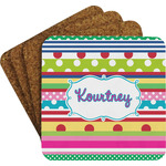 Ribbons Coaster Set w/ Stand (Personalized)