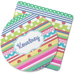 Ribbons Rubber Backed Coaster (Personalized)