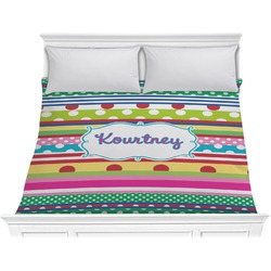 Ribbons Comforter - King (Personalized)