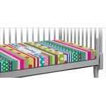 Ribbons Crib Fitted Sheet (Personalized)