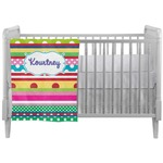 Ribbons Crib Comforter / Quilt (Personalized)