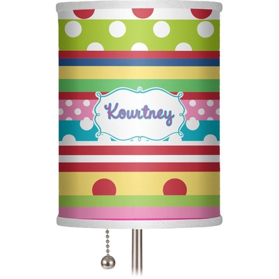 """Ribbons 7"""" Drum Lamp Shade (Personalized)"""