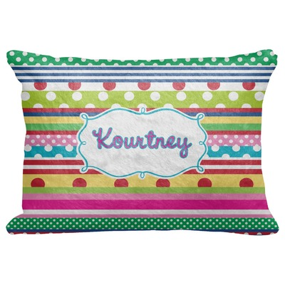 """Ribbons Decorative Baby Pillowcase - 16""""x12"""" (Personalized)"""