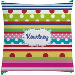 Ribbons Decorative Pillow Case (Personalized)