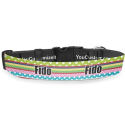 Ribbons Deluxe Dog Collar (Personalized)