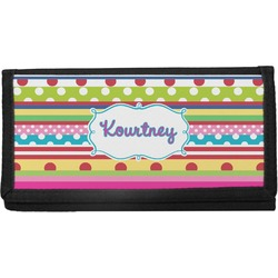 Ribbons Canvas Checkbook Cover (Personalized)