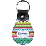 Ribbons Genuine Leather  Keychain (Personalized)