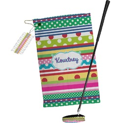 Ribbons Golf Towel Gift Set (Personalized)
