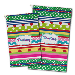 Ribbons Golf Towel - Full Print w/ Name or Text