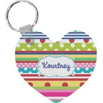 Ribbons Heart Keychain (Personalized)