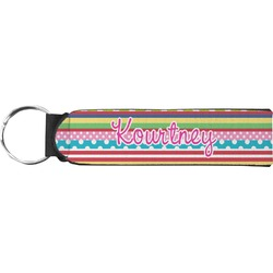 Ribbons Neoprene Keychain Fob (Personalized)