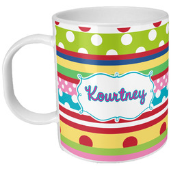 Ribbons Plastic Kids Mug (Personalized)