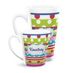 Ribbons Latte Mug (Personalized)