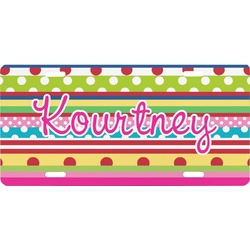 Ribbons Front License Plate (Personalized)