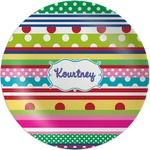 Ribbons Melamine Plate (Personalized)