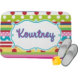 Ribbons Memory Foam Bath Mat (Personalized)
