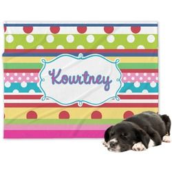 Ribbons Minky Dog Blanket (Personalized)