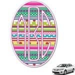 Ribbons Monogram Car Decal (Personalized)