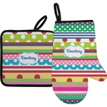 Ribbons Oven Mitt & Pot Holder (Personalized)