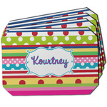Ribbons Dining Table Mat - Octagon w/ Name or Text