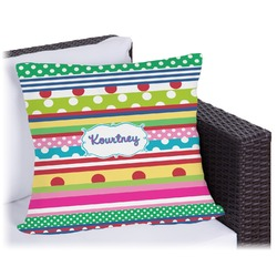 "Ribbons Outdoor Pillow - 20"" (Personalized)"