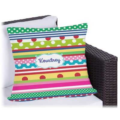 Ribbons Outdoor Pillow (Personalized)