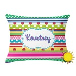 Ribbons Outdoor Throw Pillow (Rectangular) (Personalized)