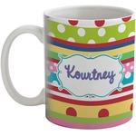Ribbons Coffee Mug (Personalized)