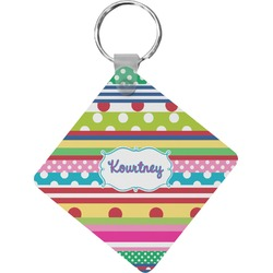Ribbons Diamond Key Chain (Personalized)