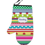 Ribbons Left Oven Mitt (Personalized)