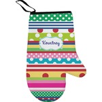Ribbons Right Oven Mitt (Personalized)
