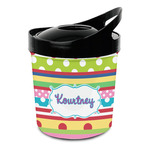 Ribbons Plastic Ice Bucket (Personalized)