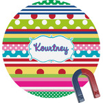 Ribbons Round Magnet (Personalized)