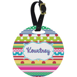 Ribbons Round Luggage Tag (Personalized)