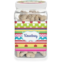 Ribbons Pet Treat Jar (Personalized)
