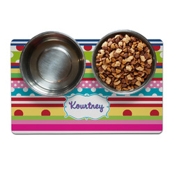 Ribbons Pet Bowl Mat (Personalized)