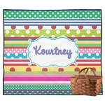 Ribbons Outdoor Picnic Blanket (Personalized)