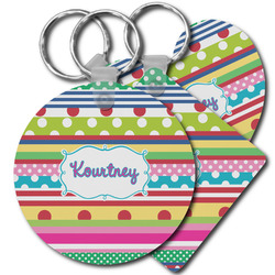 Ribbons Plastic Keychains (Personalized)