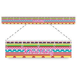 "Ribbons Plastic Ruler - 12"" (Personalized)"