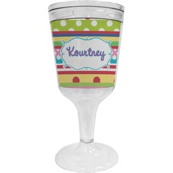 Ribbons Wine Tumbler - 11 oz Plastic (Personalized)