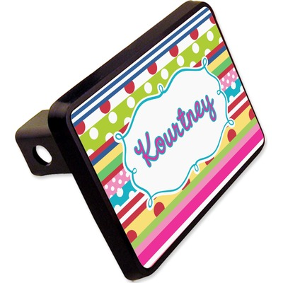 """Ribbons Rectangular Trailer Hitch Cover - 2"""" (Personalized)"""