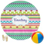 Ribbons Round Beach Towel (Personalized)