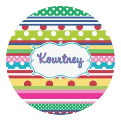 Ribbons Round Decal - Custom Size (Personalized)