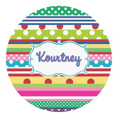 Ribbons Round Decal (Personalized)