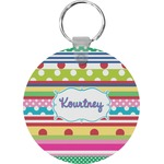 Ribbons Round Keychain (Personalized)