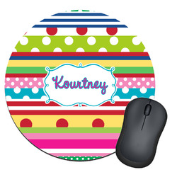 Ribbons Round Mouse Pad (Personalized)