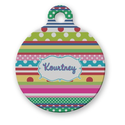 Ribbons Round Pet Tag (Personalized)