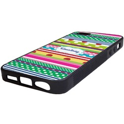 Ribbons Rubber iPhone 5/5S Phone Case (Personalized)
